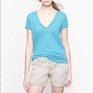 J.Crew Vintage Cotton V neck Tee Small